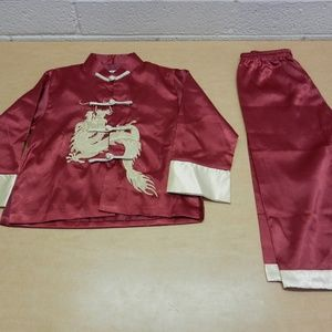 Traditional Chinese Boy Dragon Kung Fu Outfit 8
